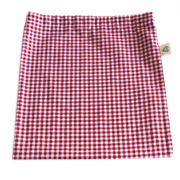 Red Check on-the-go Drawstring Bag